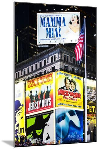 Advertising - Times square - Manhattan - New York City - United States-Philippe Hugonnard-Mounted Photographic Print