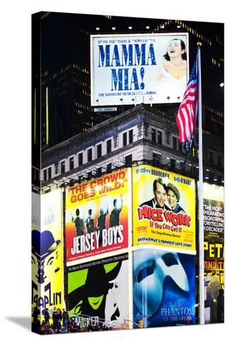 Advertising - Times square - Manhattan - New York City - United States-Philippe Hugonnard-Stretched Canvas Print
