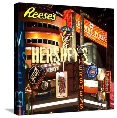 Advertising - Hershey's - Times Square - Manhattan - New York City - United States-Philippe Hugonnard-Stretched Canvas Print