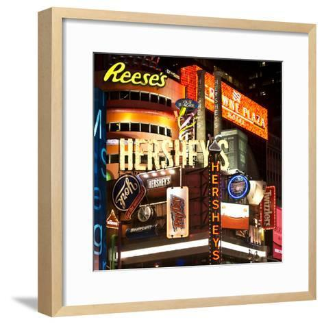 Advertising - Hershey's - Times Square - Manhattan - New York City - United States-Philippe Hugonnard-Framed Art Print