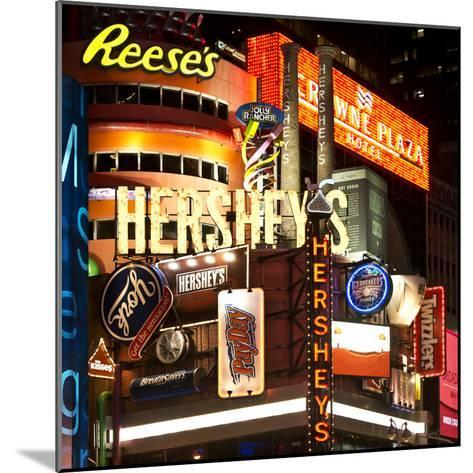 Advertising - Hershey's - Times Square - Manhattan - New York City - United States-Philippe Hugonnard-Mounted Photographic Print