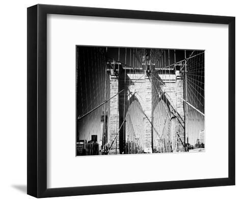 Brooklyn Bridge, Manhattan, New York, White Frame, Full Size Photography-Philippe Hugonnard-Framed Art Print