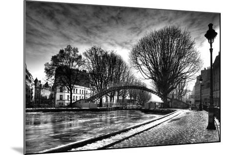 View of the Canal Saint-Martin - Winter -  Paris - France-Philippe Hugonnard-Mounted Photographic Print