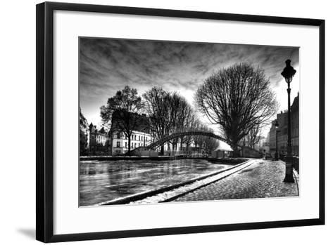 View of the Canal Saint-Martin - Winter -  Paris - France-Philippe Hugonnard-Framed Art Print