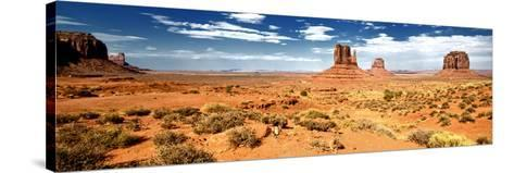 Panoramic Landscape - Monument Valley - Utah - United States-Philippe Hugonnard-Stretched Canvas Print