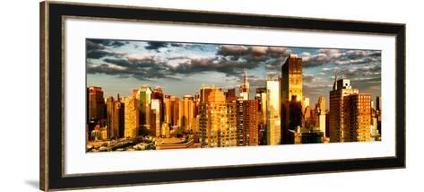Architecture and Buildings, Sunset, Midtown of Manhattan, Times Square and 42 Street, New York-Philippe Hugonnard-Framed Art Print
