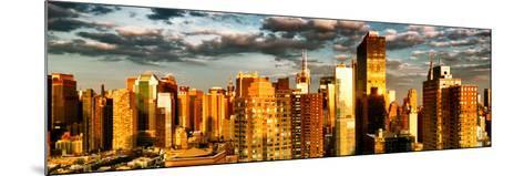 Architecture and Buildings, Sunset, Midtown of Manhattan, Times Square and 42 Street, New York-Philippe Hugonnard-Mounted Photographic Print