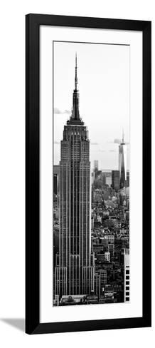 Empire State Building and One World Trade Center at Sunset, Midtown Manhattan, New York City-Philippe Hugonnard-Framed Art Print