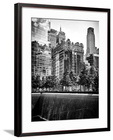 Architecture and Buildings, 9/11 Memorial, 1Wtc, Manhattan, NYC, USA, Black and White Photography-Philippe Hugonnard-Framed Art Print