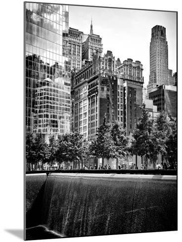 Architecture and Buildings, 9/11 Memorial, 1Wtc, Manhattan, NYC, USA, Black and White Photography-Philippe Hugonnard-Mounted Photographic Print