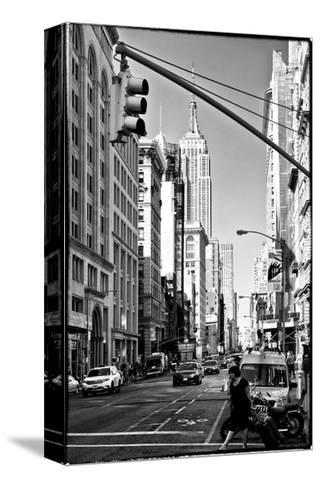 Urban Lifestyle, Empire State Building, Manhattan, New York, White Frame, Full Size Photography-Philippe Hugonnard-Stretched Canvas Print
