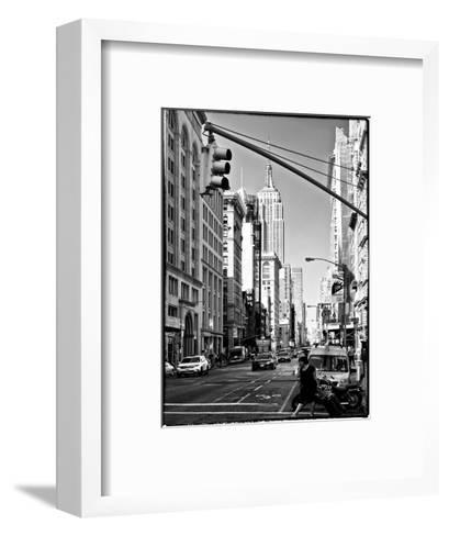Urban Lifestyle, Empire State Building, Manhattan, New York, White Frame, Full Size Photography-Philippe Hugonnard-Framed Art Print