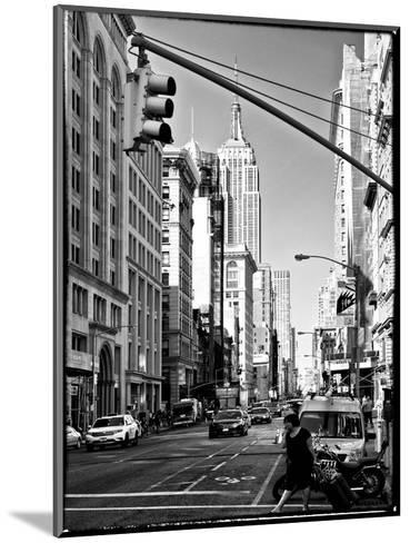 Urban Lifestyle, Empire State Building, Manhattan, New York, White Frame, Full Size Photography-Philippe Hugonnard-Mounted Photographic Print