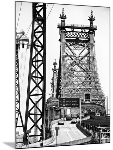 "Road Traffic Exit on ""59th Street Bridge"" (Queensboro Bridge), Manhattan Downtown, NYC-Philippe Hugonnard-Mounted Photographic Print"