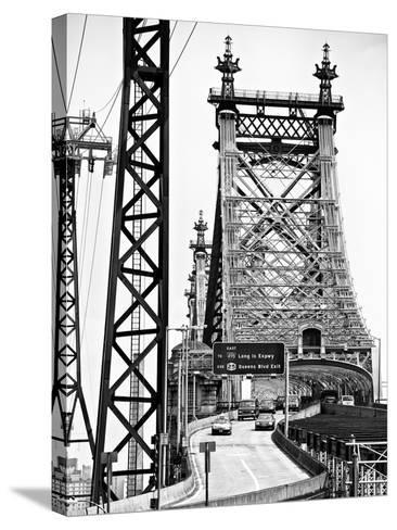 "Road Traffic Exit on ""59th Street Bridge"" (Queensboro Bridge), Manhattan Downtown, NYC-Philippe Hugonnard-Stretched Canvas Print"
