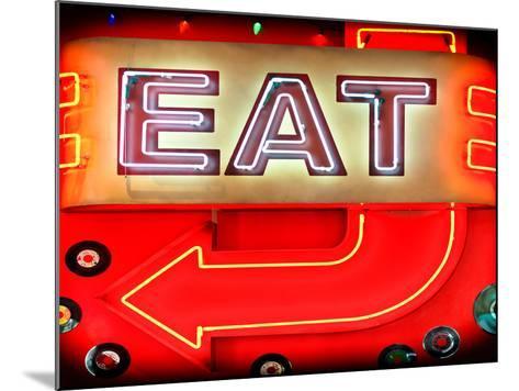 "Retail Signage ""Eat"", Restaurant Sign, New York, USA-Philippe Hugonnard-Mounted Photographic Print"