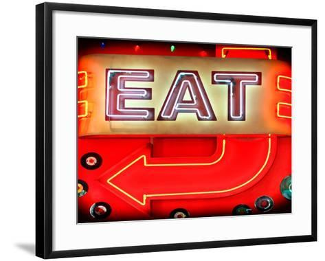 "Retail Signage ""Eat"", Restaurant Sign, New York, USA-Philippe Hugonnard-Framed Art Print"