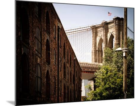 Manhattan Bridge of Brooklyn Park, Vintage Colors, Manhattan, New York, United States-Philippe Hugonnard-Mounted Photographic Print