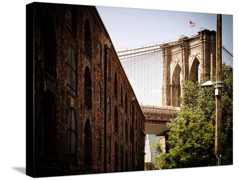 Manhattan Bridge of Brooklyn Park, Vintage Colors, Manhattan, New York, United States-Philippe Hugonnard-Stretched Canvas Print