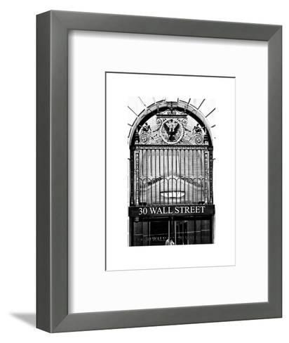 Nysc 30 Wall Street Building, Financial District, Manhattan, NYC, White Frame-Philippe Hugonnard-Framed Art Print