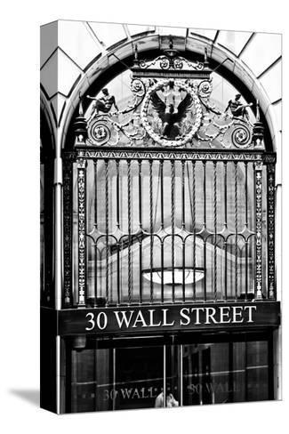 Nysc 30 Wall Street Building, Financial District, Manhattan, NYC, White Frame-Philippe Hugonnard-Stretched Canvas Print
