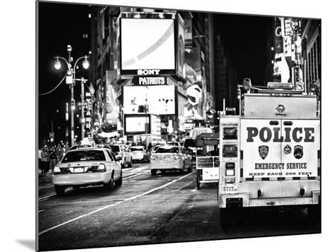 Yellow Cabs and Police Truck at Times Square by Night, Manhattan, New York-Philippe Hugonnard-Mounted Photographic Print