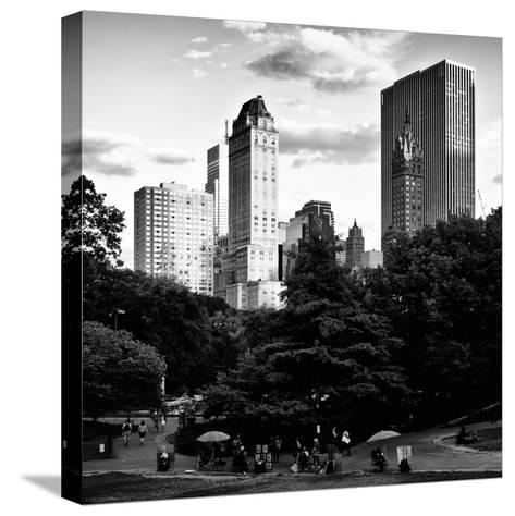 View of the Buildings around Central Park on a Summer Evening at Sunset, Manhattan, New York-Philippe Hugonnard-Stretched Canvas Print