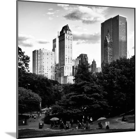 View of the Buildings around Central Park on a Summer Evening at Sunset, Manhattan, New York-Philippe Hugonnard-Mounted Photographic Print