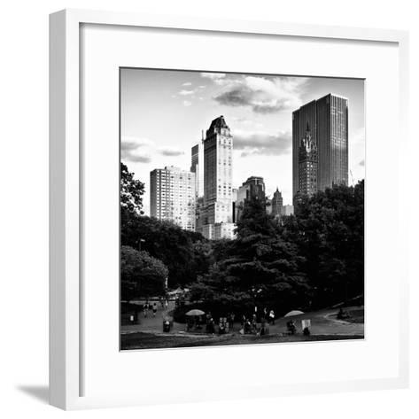 View of the Buildings around Central Park on a Summer Evening at Sunset, Manhattan, New York-Philippe Hugonnard-Framed Art Print