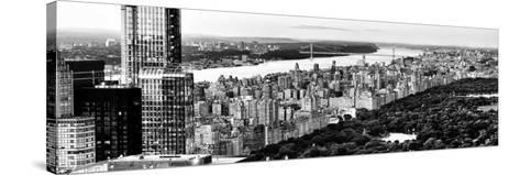 Central Park with Skyscrapers and Upper West Side Manhattan View at Sunset, New York-Philippe Hugonnard-Stretched Canvas Print