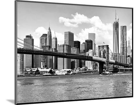 Skyline of NYC with One World Trade Center and East River, Manhattan and Brooklyn Bridge-Philippe Hugonnard-Mounted Photographic Print