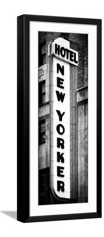 Hotel New Yorker, Signboard, Manhattan, New York, Vertical Panoramic View-Philippe Hugonnard-Framed Art Print