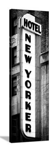 Hotel New Yorker, Signboard, Manhattan, New York, Vertical Panoramic View-Philippe Hugonnard-Stretched Canvas Print