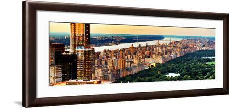 Central Park with Skyscrapers and Upper West Side Manhattan View at Sunset, New York-Philippe Hugonnard-Framed Art Print