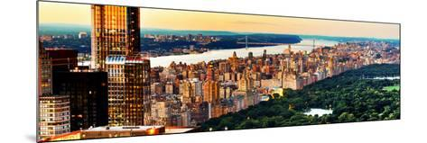 Central Park with Skyscrapers and Upper West Side Manhattan View at Sunset, New York-Philippe Hugonnard-Mounted Photographic Print