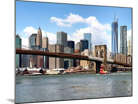 Skyline of NYC with One World Trade Center and East River, Manhattan and Brooklyn Bridge, US-Philippe Hugonnard-Mounted Photographic Print