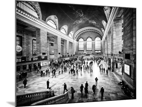 Lifestyle Instant, Grand Central Terminal, Black and White Photography Vintage, Manhattan, NYC, US-Philippe Hugonnard-Mounted Photographic Print