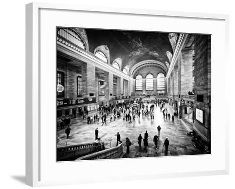 Lifestyle Instant, Grand Central Terminal, Black and White Photography Vintage, Manhattan, NYC, US-Philippe Hugonnard-Framed Art Print