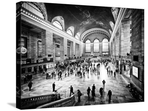Lifestyle Instant, Grand Central Terminal, Black and White Photography Vintage, Manhattan, NYC, US-Philippe Hugonnard-Stretched Canvas Print