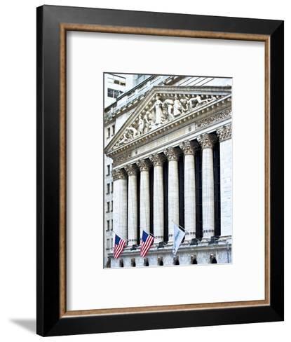 The New York Stock Exchange Building, Wall Street, Manhattan, NYC, White Frame-Philippe Hugonnard-Framed Art Print