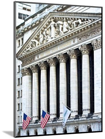 The New York Stock Exchange Building, Wall Street, Manhattan, NYC, White Frame-Philippe Hugonnard-Mounted Photographic Print