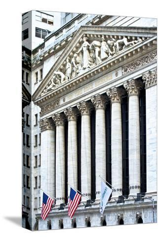 The New York Stock Exchange Building, Wall Street, Manhattan, NYC, White Frame-Philippe Hugonnard-Stretched Canvas Print