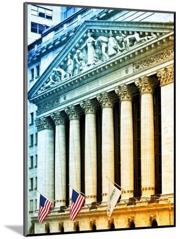 The New York Stock Exchange Building, Wall Street, Manhattan, NYC, White Frame, Colors Photography-Philippe Hugonnard-Mounted Photographic Print
