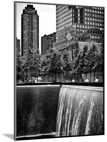 The Memorial Pool at 9/11 Memorial View, 1WTC, Manhattan, New York, USA-Philippe Hugonnard-Mounted Photographic Print