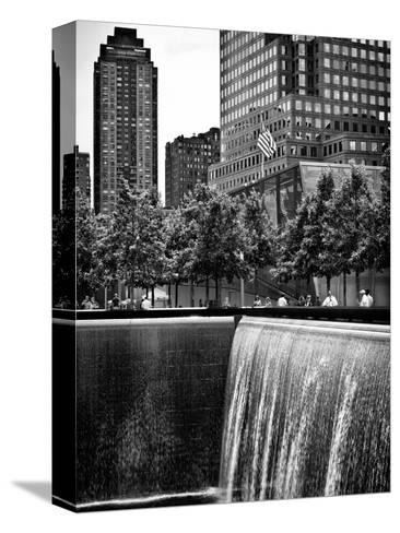 The Memorial Pool at 9/11 Memorial View, 1WTC, Manhattan, New York, USA-Philippe Hugonnard-Stretched Canvas Print
