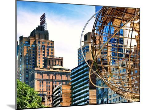 Columbus Circle, Globe Sculpture, 59 Street and Columbus Ave, Essex House Building, New York City-Philippe Hugonnard-Mounted Photographic Print