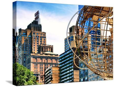 Columbus Circle, Globe Sculpture, 59 Street and Columbus Ave, Essex House Building, New York City-Philippe Hugonnard-Stretched Canvas Print