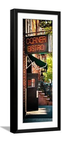 Urban Scene, Corner Bistro, Meatpacking and West Village, Manhattan, New York-Philippe Hugonnard-Framed Art Print
