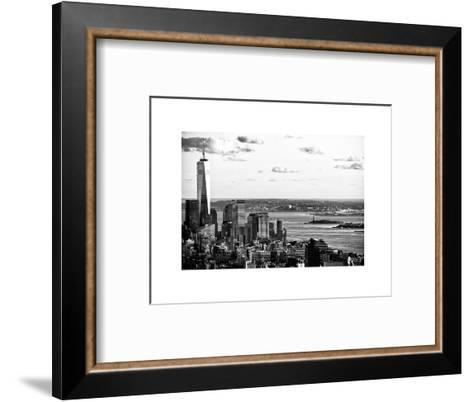 The One World Trade Center (1WTC), Hudson River and Statue of Liberty View, Manhattan, New York-Philippe Hugonnard-Framed Art Print