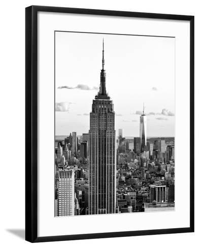 Empire State Building and One World Trade Center at Sunset, Midtown Manhattan, NYC-Philippe Hugonnard-Framed Art Print